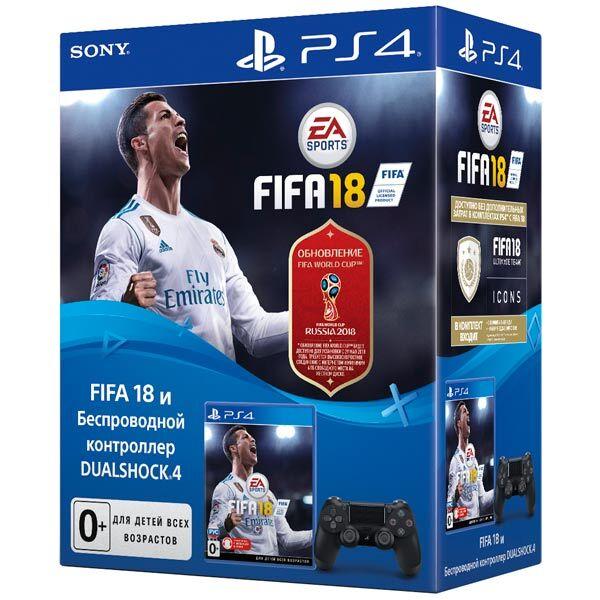 Геймпад SONY Dualshock v2 черный (CUH-ZCT2E) + FIFA18