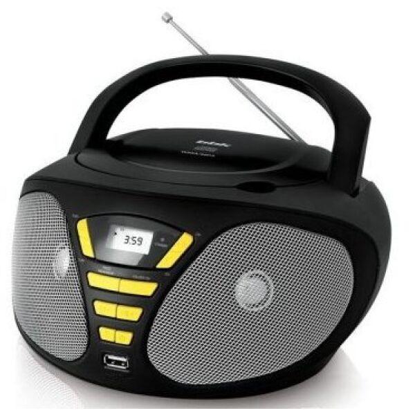 Магнитола BBK BX180U, черно/желтый