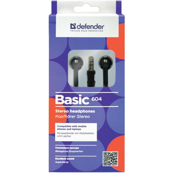 Наушники Defender Basic 604 (черный)