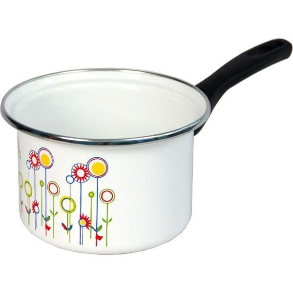 Ковш Сантэкс 1-4410400 (луговые цветы, белый)