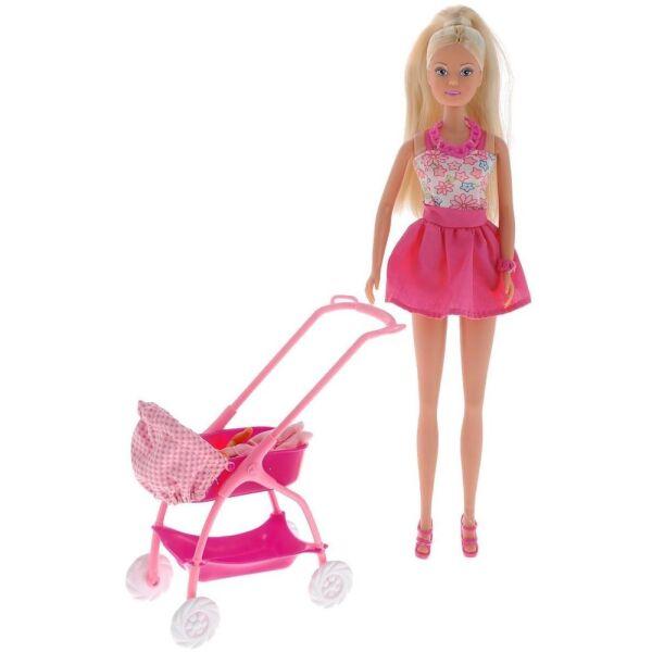 Кукла Simba Штеффи с ребёнком, 10 5733067, 29 см. и 5 см.