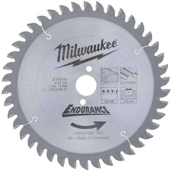 Диск пильный (по дереву) MILWAUKEE D 190х20х2.8 мм 42Z  4932346511