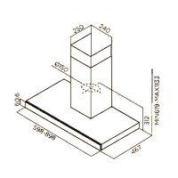 Кухонная вытяжка Jetair Flavia IX/A/90