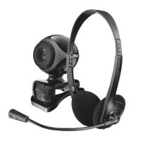 270x270-Набор веб-камера + гарнитура TRUST Exis Chatpack Black (17028)