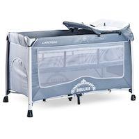 Манеж-кровать CARETERO Deluxe (серый)