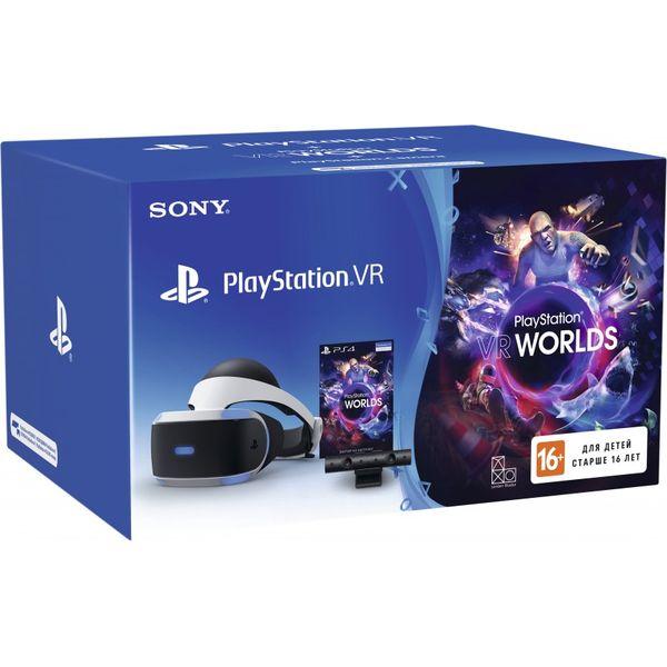 Шлем виртуальной реальности Sony PlayStation VR v2 (с камерой и VR Worlds)