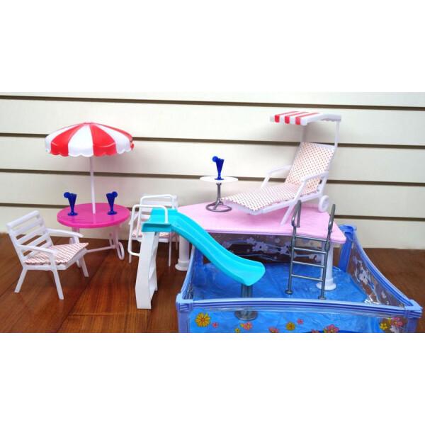 Набор мебели для кукол WELL SUCCESS TOYS Отдых у бассейна (2578)