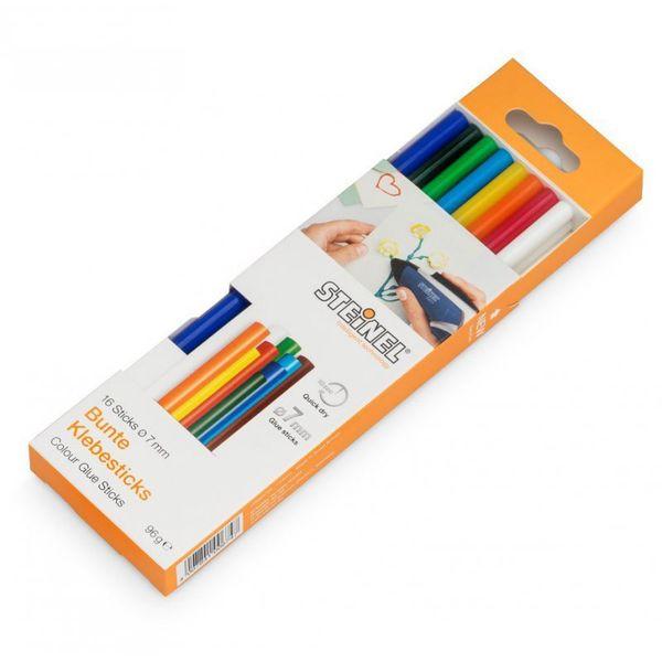 Клеевые стержни STEINEL 7 разноцветные (006969)