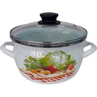Кастрюля Сантэкс 1-2415112 (овощи, белый)