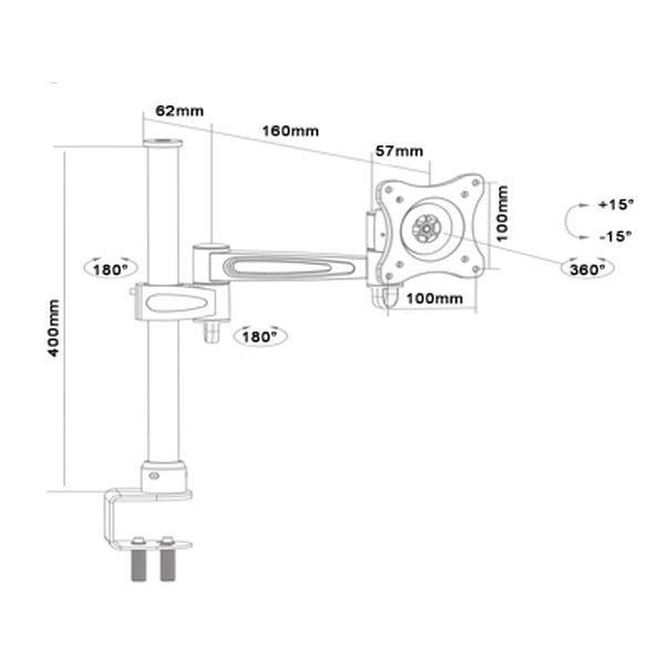 Кронштейн Brateck LCD-T12