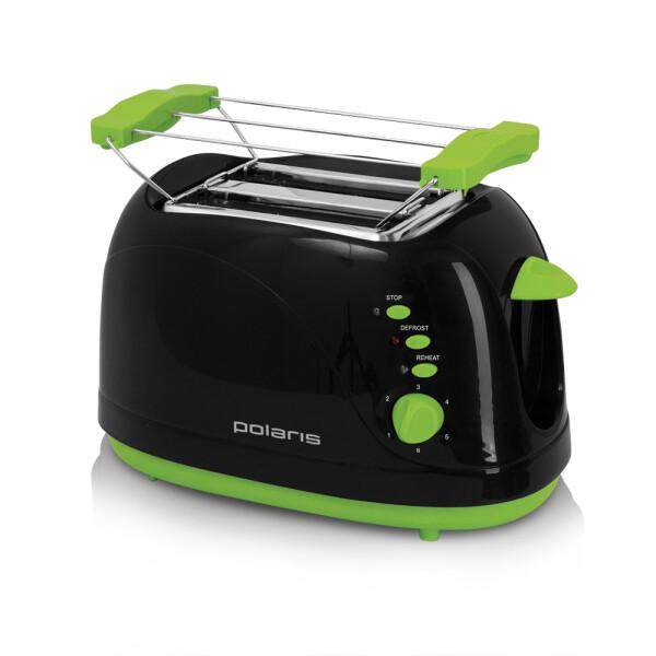 Тостер POLARIS PET0706LB(черный с зеленым)