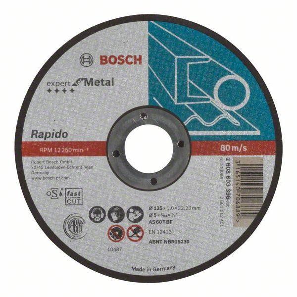Отрезной диск Bosch Expert for Metal прямой 2.608.603.396