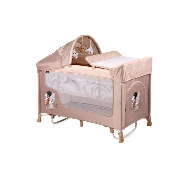 Манеж-кровать LORELLI San Remo 2 Plus Rocker Beige Cool Cat