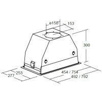 Вытяжка кухонная САТА GC DUAL A 45 XGBK/B