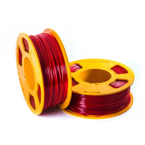 Пластиковая нить U3Print GF PETG 1,75 мм 1000 г (рубиновый, светопропускающий)