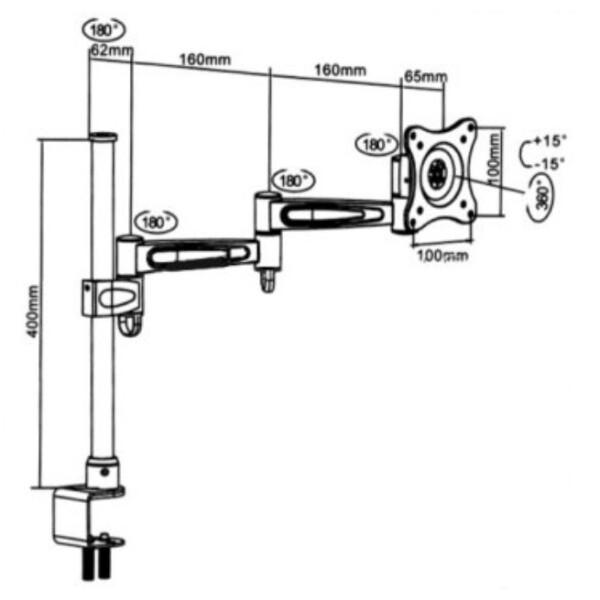 Кронштейн настольный для ЖК монитора Maclean MC-628