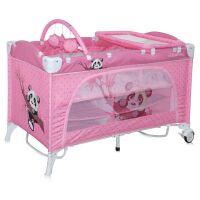 270x270-Манеж-кровать LORELLI Travel Kid 2 Rocker Pink Panda