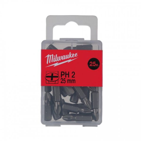 Бита MILWAUKEE PH2 25 мм (25 шт.) 4932399587
