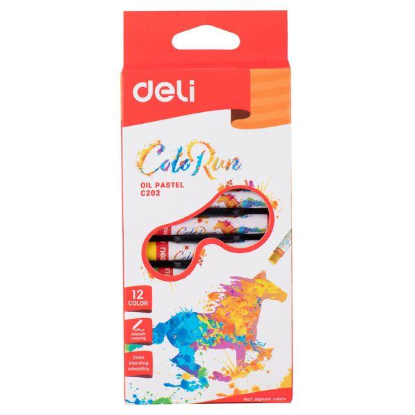 Пастель масляная DELI Color run С20200 12 цв.