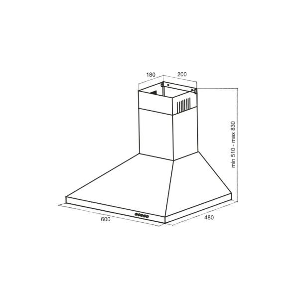 Вытяжка Germes Пирамида (60 см, белый)