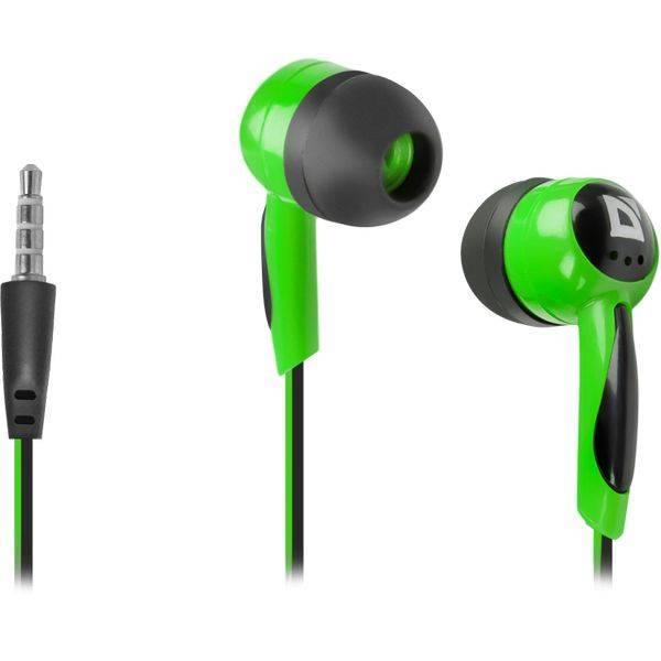 Наушники Defender 604 Basic (Черный + зеленый)