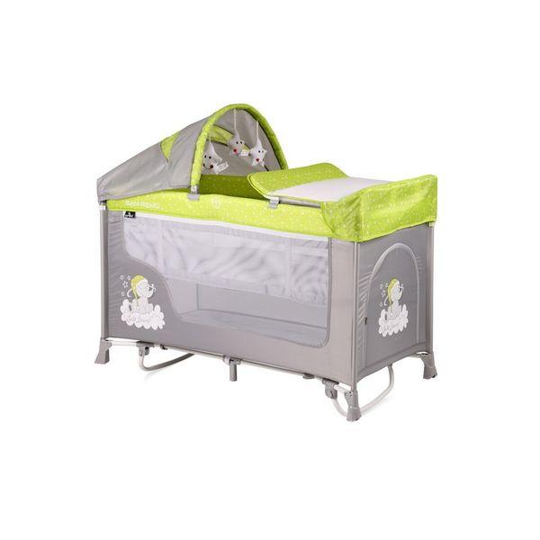 Манеж-кровать LORELLI San Remo 2 Plus Rocker Green Grey Elephant