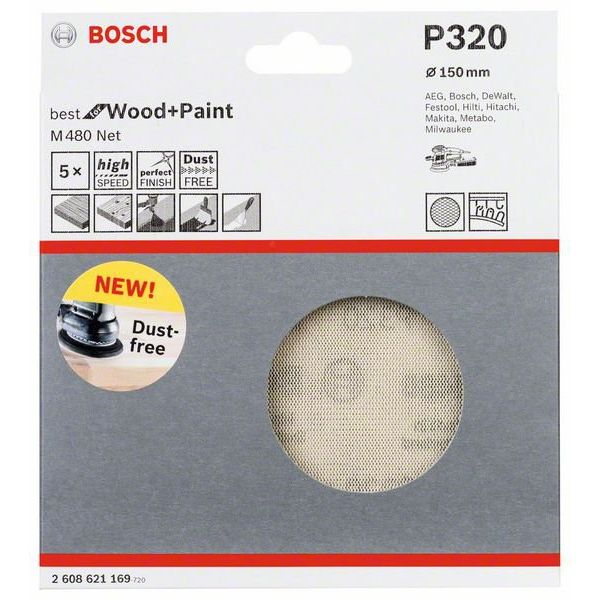 Шлифлист Bosch Best for Wood and Paint M480 2.608.621.169