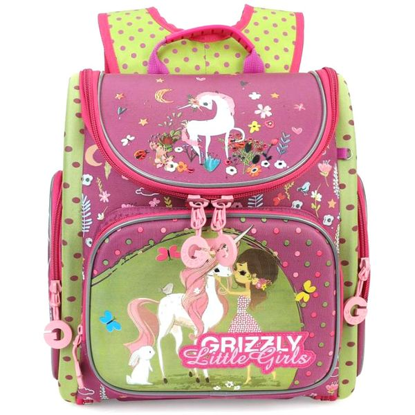 Рюкзак Grizzly RA-971-1 (фуксия/салатовый)