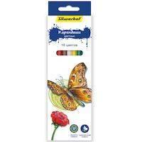 270x270-Карандаши цветные шестигранные SILWERHOF Бабочки 134196-18
