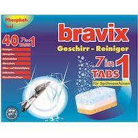 270x270-Комплект средств для посудомоечных машин BRAVIX 7 в 1 (40 таблеток) + соль REINEX Spezial-salz (2 кг)