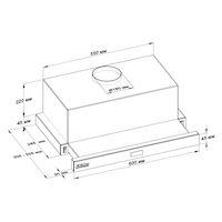Воздухоочиститель для кухонь BACKER TH60CL-2F200-BG