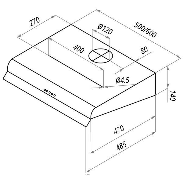 Вытяжка MAUNFELD MP 360-1 (C) (белый)