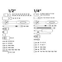 Набор головок и бит 1/4 1/2 PRO STARTUL NEW CASE (PRO-094) 94пр.