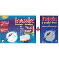 270x270-Комплект средств для посудомоечных машин BRAVIX 7 в 1 (40 таблеток) + соль (2 кг)