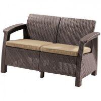 270x270-Диван садовый Keter Corfu II Love Seat (коричневый)