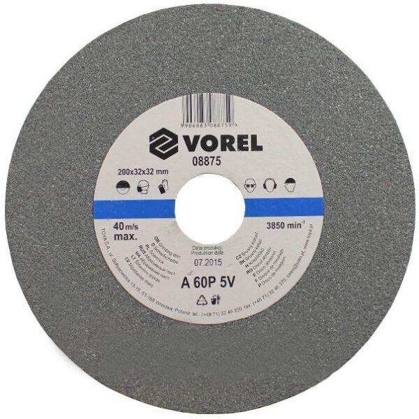 Круг абразивный VOREL для настольного точила 200х32х30мм (08875)