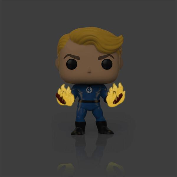 Фигурка Funko POP! Bobble: Marvel: Fantastic Four: Human Torch (Suited) (Exc)
