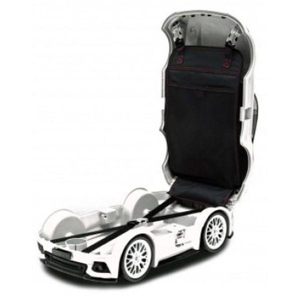Детский чемодан RIDAZ Ford Mustang GT (белый)