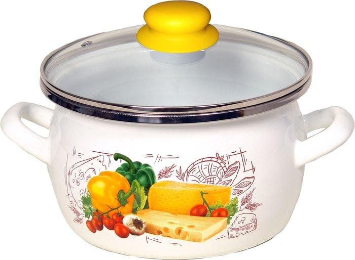 Кастрюля Сантэкс 1-2440112 (сырная поляна, белый)