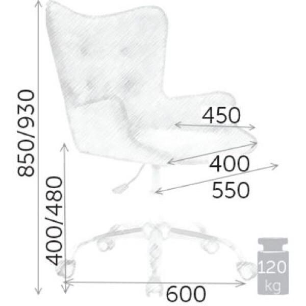 Кресло Седия Bella (серый бархатный)