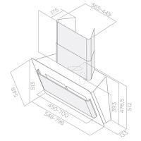 Кухонная вытяжка Elica Belt Lux WH/A/80