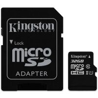 270x270-Карта памяти KINGSTON microSDHC 32GB+ SD Adapter black (SDC10G2/32GB 10 UHS-I U1)