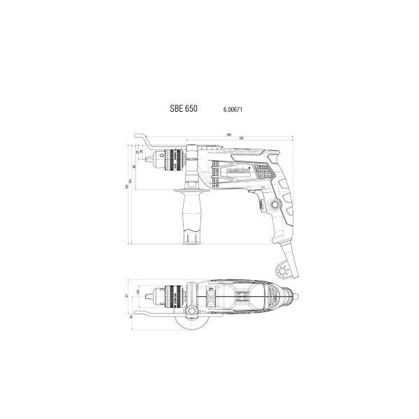 Дрель Metabo SBE 650 (600671000)