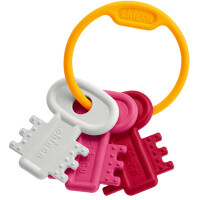 "Игрушка-погремушка Chicco ""Ключи на кольце"" розовые"