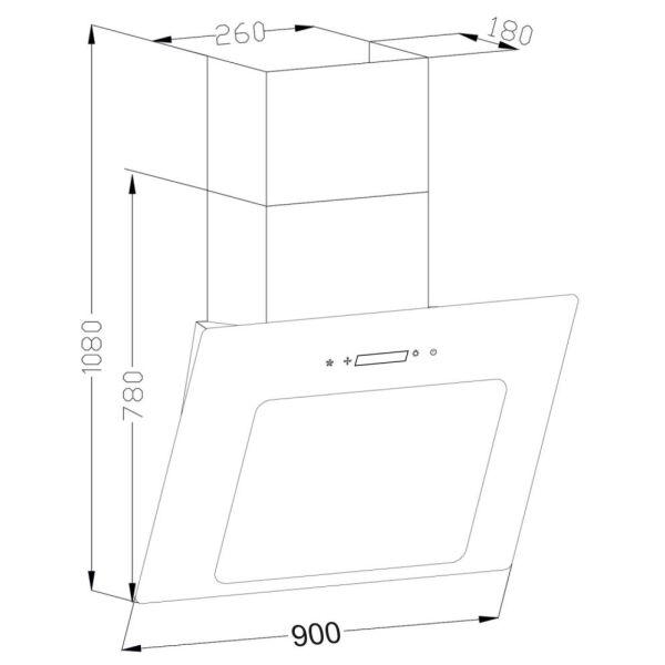 Кухонная вытяжка Backer AH60E-L6 Black Glass (д.о. 90)