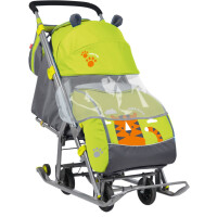 270x270-Санки-коляска НИКА Детям 7 Тигр (лимонный)
