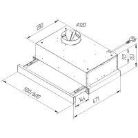 Вытяжка кухонная PYRAMIDA TL 60 SLIM BR