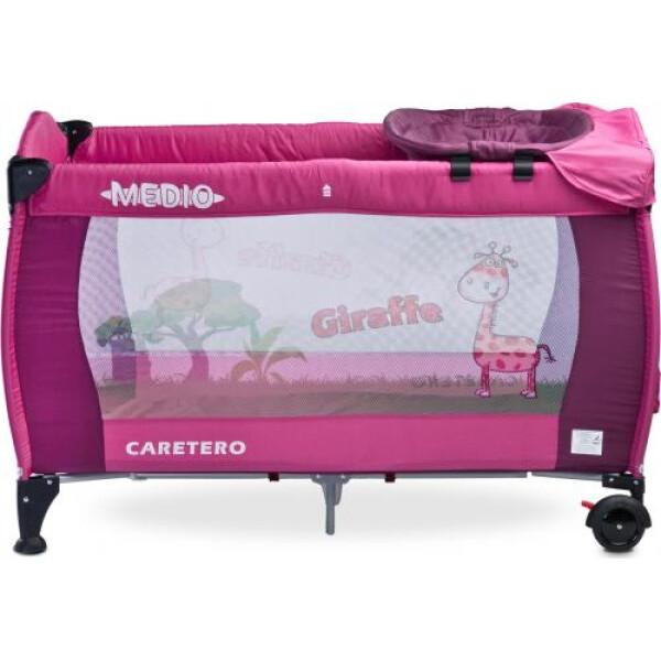 Манеж-кровать CARETERO Medio Classic (розовый)