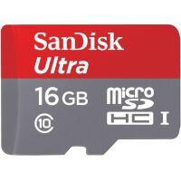 270x270-Карта памяти SANDISK microSDHC 16GB 10 CL, UHS-I c адаптером (SDSQUNC-016G-GN6MA)