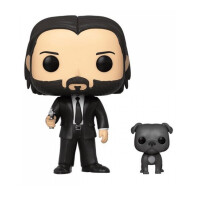 Фигурка Funko POP! Vinyl: John Wick: John (Black Suit) w/Dog